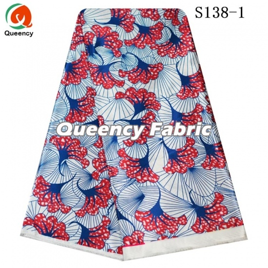018a3bafbb6 New Arrival Aso Ebi Queency Style African Silk Satin Wax Prints DIY Dresses  Fabric For Party And Bridal