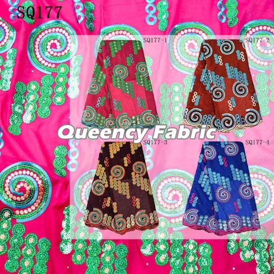 Heavy Sequins African Voile Lace Fabric