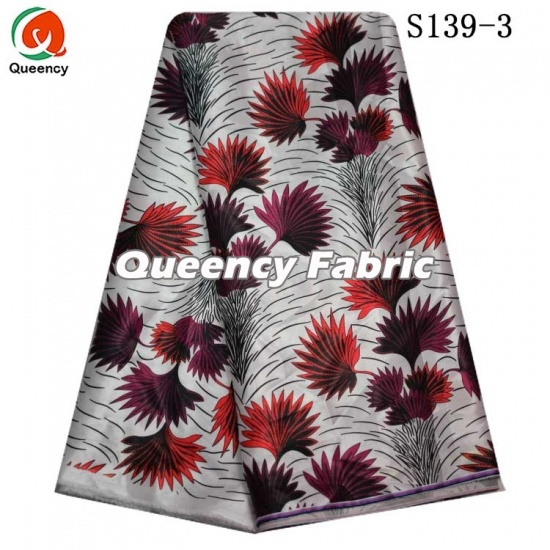 Floral Print African Satin Fabric