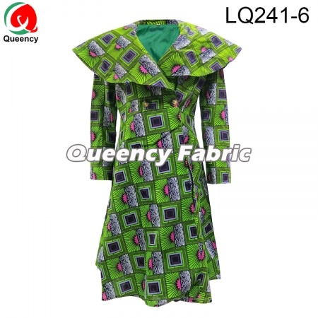 African woman long unique dress coat