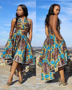 Ankara Lace Ladies Dresses